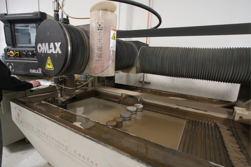 Omax Water Jet with Rotary Axis